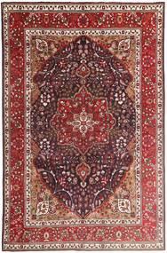 Tabriz Szőnyeg 207X315 Keleti Csomózású Sötétpiros/Sötétbarna (Gyapjú, Perzsia/Irán)