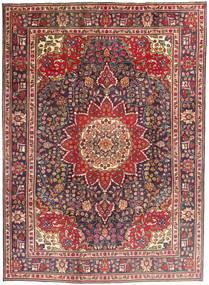 Tabriz Szőnyeg 212X292 Keleti Csomózású Sötétpiros/Sötétbarna (Gyapjú, Perzsia/Irán)