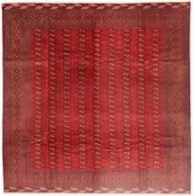 Turkaman Szőnyeg 310X320 Keleti Csomózású Szögletes Sötétpiros/Rozsdaszín Nagy (Gyapjú, Perzsia/Irán)
