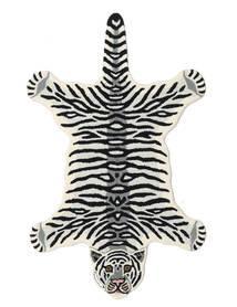 Tiger - White Szőnyeg 100X160 Modern Fekete/Bézs (Gyapjú, India)