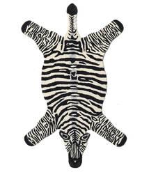 Zebra Szőnyeg 100X155 Modern Fekete/Bézs (Gyapjú, India)