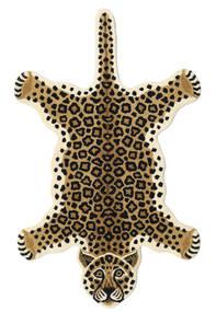 Leopard - Bézs Szőnyeg 100X160 Modern Bézs/Fekete (Gyapjú, India)