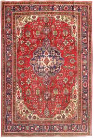 Tabriz Szőnyeg 196X288 Keleti Csomózású Sötétpiros/Világosbarna (Gyapjú, Perzsia/Irán)
