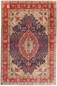 Tabriz Szőnyeg 199X305 Keleti Csomózású Sötétpiros/Világosbarna (Gyapjú, Perzsia/Irán)