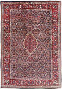 Tabriz Szőnyeg 196X288 Keleti Csomózású Sötétlila/Világosszürke (Gyapjú, Perzsia/Irán)