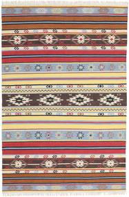 Kilim - Navaja - Navaja Szőnyeg 200X300 Modern Kézi Szövésű Bézs/Sötétbarna (Gyapjú, India)