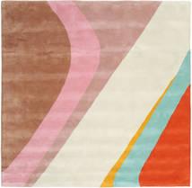 Dynamic Handtufted - Rózsaszín Szőnyeg 250X250 Modern Szögletes Bézs/Világosbarna Nagy (Gyapjú, India)