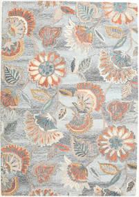 Rusty Flowers - Szürke/Rozsdaszín Szőnyeg 160X230 Modern Világosszürke/Bézs (Gyapjú, India)