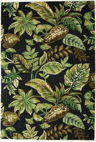 Jungel - Zöld/Fekete Szőnyeg 200X300 Modern Sötétzöld/Olívazöld (Gyapjú, India)