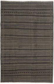 Kilim Perzsa Szőnyeg 200X300 Keleti Kézi Szövésű Sötétszürke/Fekete (Gyapjú, Perzsia/Irán)