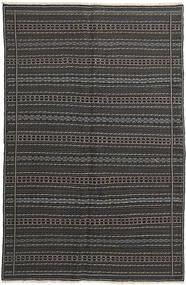 Kilim Szőnyeg 152X235 Keleti Kézi Szövésű Sötétszürke/Fekete (Gyapjú, Perzsia/Irán)