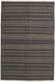 Kilim Szőnyeg 159X233 Keleti Kézi Szövésű Sötétszürke/Fekete (Gyapjú, Perzsia/Irán)