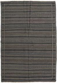 Kilim Perzsa Szőnyeg 160X230 Keleti Kézi Szövésű Sötétszürke/Fekete (Gyapjú, Perzsia/Irán)
