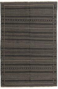 Kilim Perzsa Szőnyeg 160X230 Keleti Kézi Szövésű Fekete/Sötétszürke (Gyapjú, Perzsia/Irán)