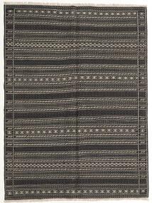 Kilim Szőnyeg 155X210 Keleti Kézi Szövésű Sötétszürke/Fekete (Gyapjú, Perzsia/Irán)