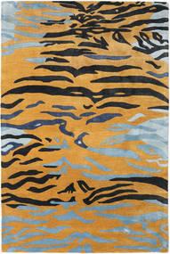 Love Tiger - Narancssárga/Szürke Szőnyeg 200X300 Modern Világosbarna/Fekete ( India)