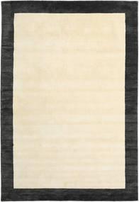 Handloom Frame - Fekete/White Szőnyeg 200X300 Modern Bézs/Sötétszürke (Gyapjú, India)