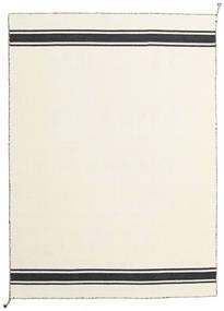 Ernst - Off White/Fekete Szőnyeg 140X200 Modern Kézi Szövésű Bézs (Gyapjú, India)