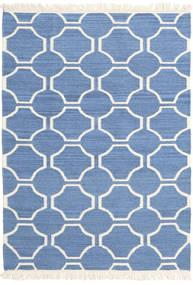 London - Kék/Off White Szőnyeg 160X230 Modern Kézi Szövésű Kék/Bézs (Gyapjú, India)