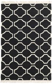 London - Fekete/Off White Szőnyeg 120X180 Modern Kézi Szövésű Fekete/Bézs (Gyapjú, India)