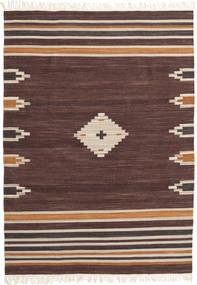 Tribal - Barna Szőnyeg 140X200 Modern Kézi Szövésű Sötétbarna/Sötétpiros (Gyapjú, India)