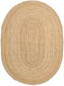 Frida Oval - Natural Szőnyeg 140X200 Modern Kézi Szövésű Sötét Bézs/Bézs ( India)