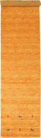 Gabbeh Loom Two Lines - Narancssárga Szőnyeg 80X350 Modern Narancssárga/Világosbarna (Gyapjú, India)