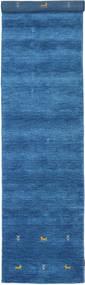 Gabbeh Loom Two Lines - Kék Szőnyeg 80X450 Modern Kék/Sötétkék (Gyapjú, India)