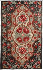 Kilim Rose Moldavia Szőnyeg 191X317 Keleti Kézi Szövésű Sötétpiros/Fekete (Gyapjú, Moldova)