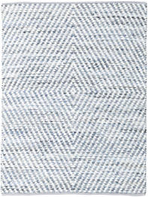 Hilda - Denim/White Szőnyeg 170X240 Modern Kézi Szövésű Bézs/Világoskék (Pamut, India)