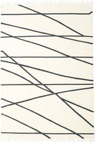 Cross Lines - Off White/Fekete Szőnyeg 250X350 Modern Kézi Szövésű Bézs/Bézs/Krém Nagy (Gyapjú, India)