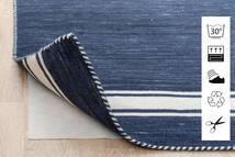 Anti Slip, Non-Woven Szőnyeg 80X300 Modern Kék/Világosszürke ( Belgium)