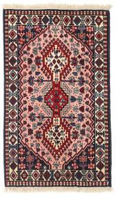 Yalameh Szőnyeg 61X101 Keleti Csomózású Fekete/Sötétpiros (Gyapjú, Perzsia/Irán)