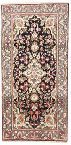 Kerman Szőnyeg 95X190 Keleti Csomózású Világosbarna/Bézs (Gyapjú, Perzsia/Irán)