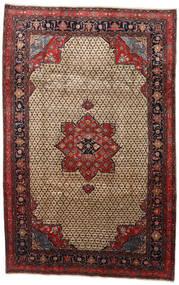 Songhor Szőnyeg 206X322 Keleti Csomózású Világosbarna/Fekete (Gyapjú, Perzsia/Irán)