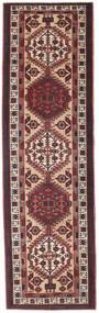 Sarab Patina Szőnyeg 100X345 Keleti Csomózású Sötétbarna/Sötétpiros (Gyapjú, Perzsia/Irán)