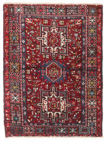 Heriz Szőnyeg 106X140 Keleti Csomózású Sötétpiros/Fekete (Gyapjú, Perzsia/Irán)