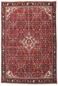 Hamadán Patina Szőnyeg 135X202 Keleti Csomózású Sötétbarna/Piros (Gyapjú, Perzsia/Irán)