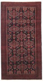Balouch Patina Szőnyeg 95X177 Keleti Csomózású Sötétpiros/Fekete/Sötétbarna (Gyapjú, Perzsia/Irán)