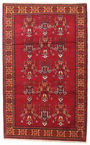 Balouch Szőnyeg 108X170 Keleti Csomózású Sötétpiros/Piros (Gyapjú, Perzsia/Irán)