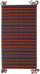 Kilim Fars Szőnyeg 205X365 Keleti Kézi Szövésű Sötétszürke/Sötétbarna (Gyapjú, Perzsia/Irán)