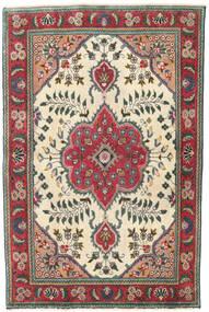 Tabriz Patina Szőnyeg 95X145 Keleti Csomózású Bézs/Fekete (Gyapjú, Perzsia/Irán)