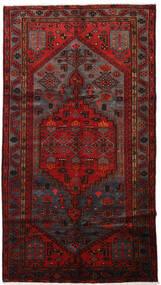 Hamadán Szőnyeg 146X267 Keleti Csomózású Sötétpiros/Sötétbarna (Gyapjú, Perzsia/Irán)