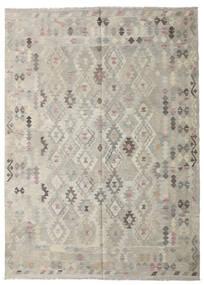 Kilim Afgán Old Style Szőnyeg 208X287 Keleti Kézi Szövésű Világosszürke/Sötét Bézs (Gyapjú, Afganisztán)