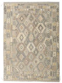 Kilim Afgán Old Style Szőnyeg 208X292 Keleti Kézi Szövésű Világosszürke/Bézs (Gyapjú, Afganisztán)