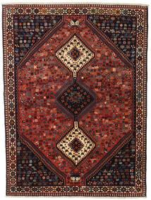 Yalameh Szőnyeg 155X201 Keleti Csomózású Sötétpiros/Fekete (Gyapjú, Perzsia/Irán)