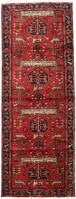 Hamadán Szőnyeg 105X284 Keleti Csomózású Sötétpiros/Rozsdaszín (Gyapjú, Perzsia/Irán)