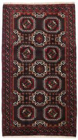 Balouch Szőnyeg 99X172 Keleti Csomózású Fekete/Sötétpiros (Gyapjú, Perzsia/Irán)