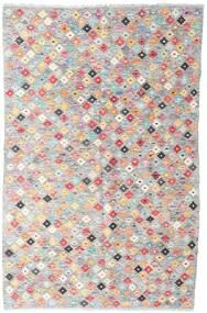 Kilim Afgán Old Style Szőnyeg 127X194 Keleti Kézi Szövésű Világosszürke/Világos Rózsaszín (Gyapjú, Afganisztán)