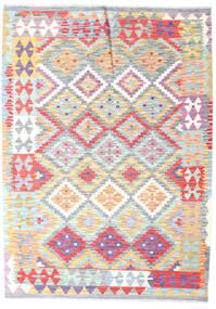 Kilim Afgán Old Style Szőnyeg 126X177 Keleti Kézi Szövésű Bézs/Bézs/Krém (Gyapjú, Afganisztán)